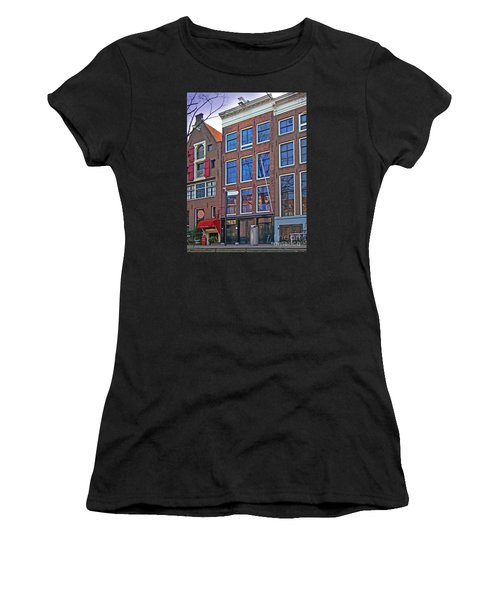 Anne Frank Home In Amsterdam Women's T-Shirt (Athletic Fit)