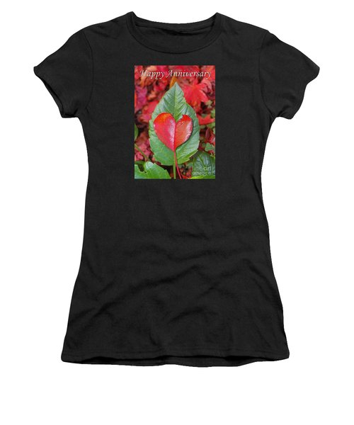 Anniversary Nature Greeting Card Women's T-Shirt (Athletic Fit)