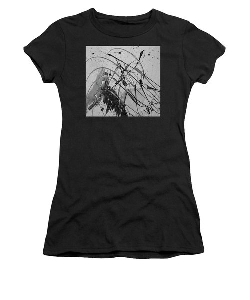 Women's T-Shirt featuring the painting Another World by Michael Lucarelli