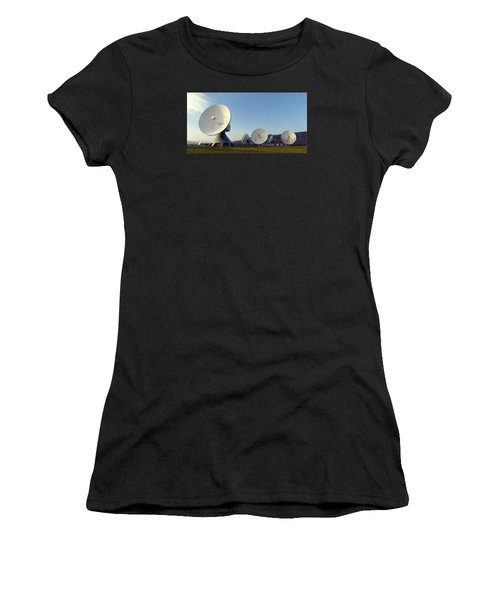 Women's T-Shirt featuring the pyrography Antenna Array 2 Of The Earth Station  by Artistic Panda