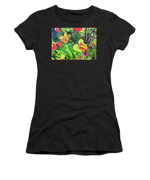 Anthuriums Yellow And Red Women's T-Shirt