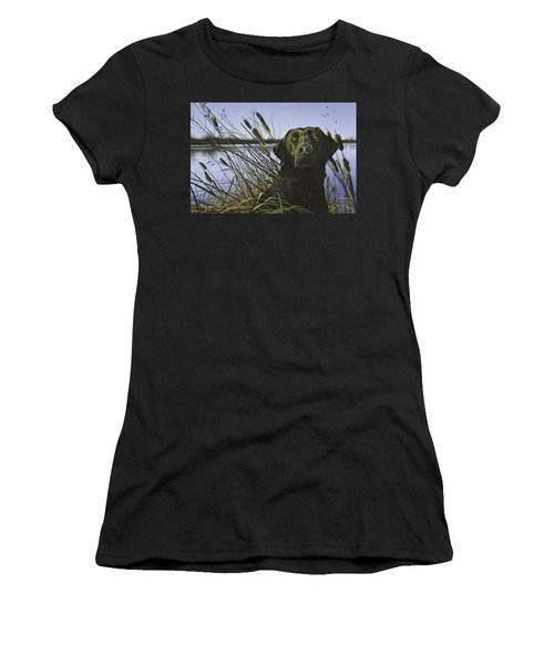 Anticipation - Black Lab Women's T-Shirt