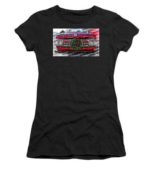 Antique Ford Christmas Women's T-Shirt (Athletic Fit)