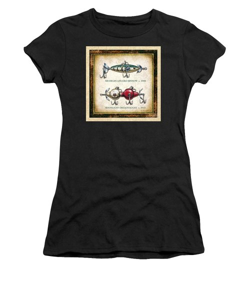 Antique Lure Panel Two Women's T-Shirt (Athletic Fit)