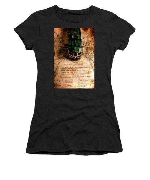 Antique Melbourne Travel Map Women's T-Shirt