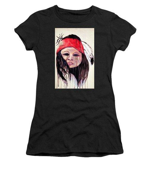 Watercolor Painting Of Apache Tears By Ayasha Loya Women's T-Shirt (Junior Cut) by Ayasha Loya