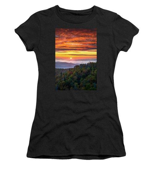 Appalachian Mountains Asheville North Carolina Blue Ridge Parkway Nc Scenic Landscape Women's T-Shirt (Athletic Fit)