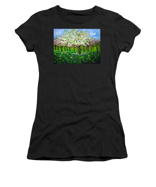 Apple Blossom Orchard Women's T-Shirt (Athletic Fit)
