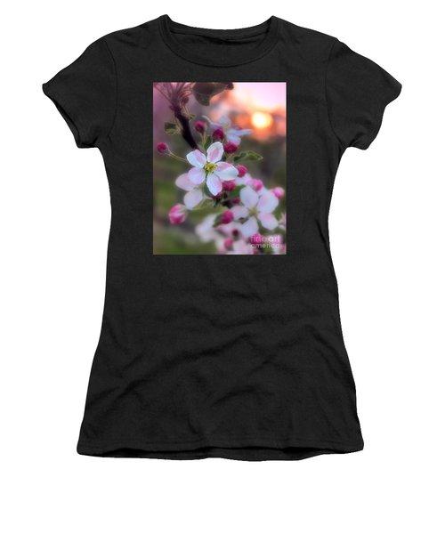 Apple Blossom Sunrise Women's T-Shirt (Athletic Fit)