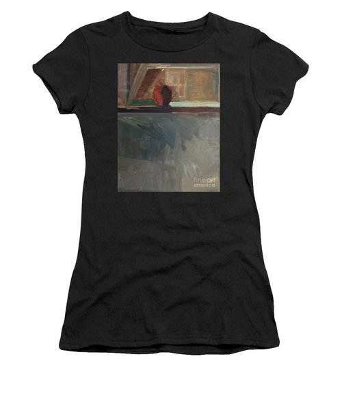 Apple On A Sill Women's T-Shirt (Athletic Fit)