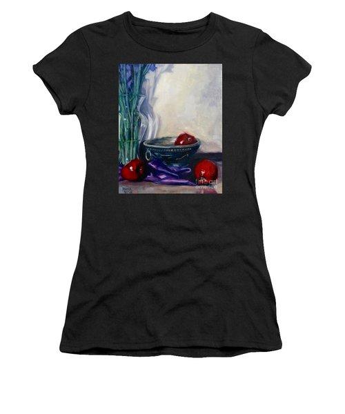 Apples And Silk Women's T-Shirt (Junior Cut) by Rebecca Glaze