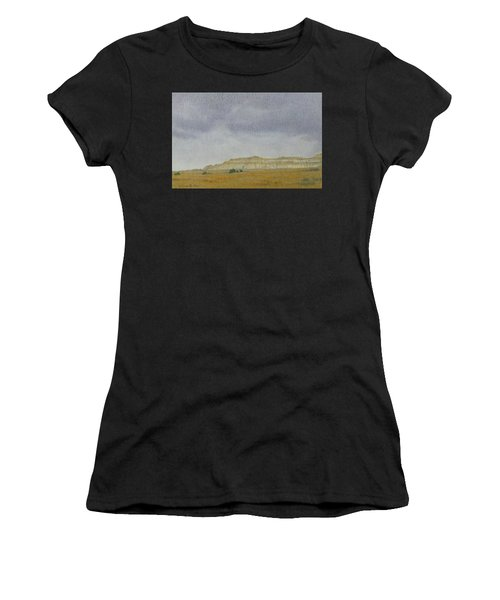 Women's T-Shirt featuring the pastel April In The Badlands by Cris Fulton