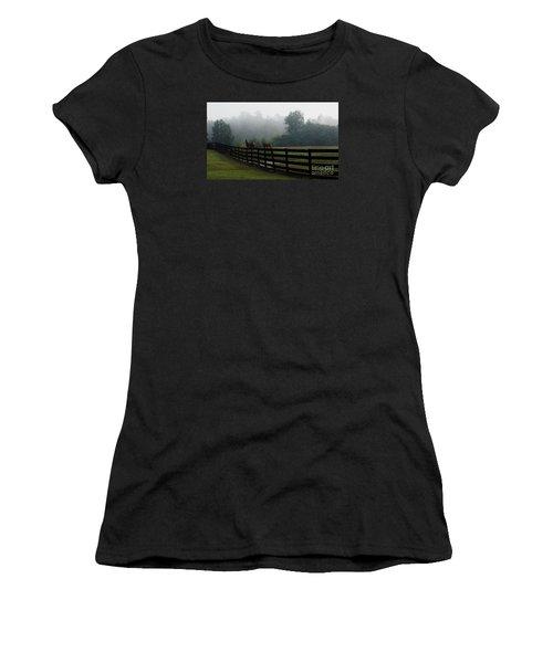 Arabian Horse Landscape Women's T-Shirt (Athletic Fit)