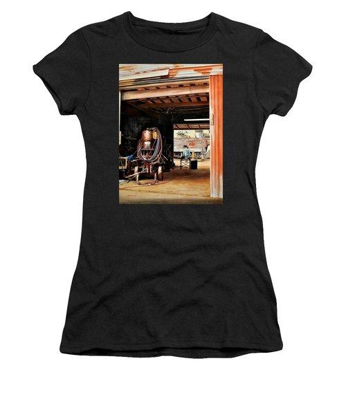Aransas Pass Boatyard Women's T-Shirt (Athletic Fit)
