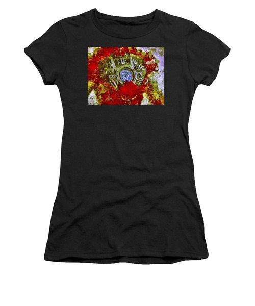 Women's T-Shirt featuring the mixed media Iron Man 2 by Al Matra