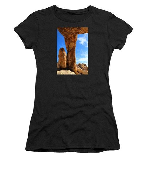 Arch Rok Looking Inside Sideway Women's T-Shirt