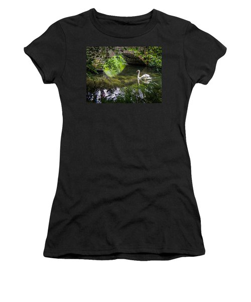 Arched Bridge And Swan At Doneraile Park Women's T-Shirt