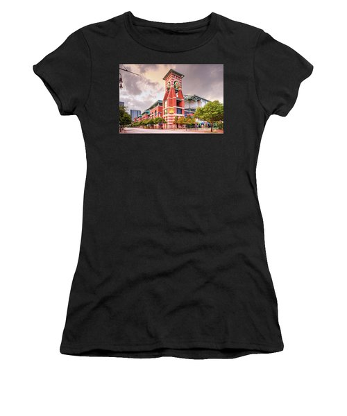 Architectural Photograph Of Minute Maid Park Home Of The Astros - Downtown Houston Texas Women's T-Shirt