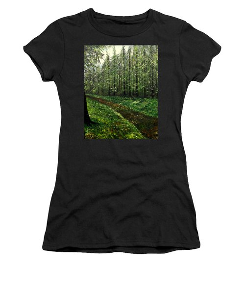 Are You Leaving Women's T-Shirt (Athletic Fit)