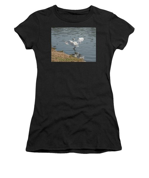 Are You Ready To Dance - Great Egret In Mtn View Ca Women's T-Shirt