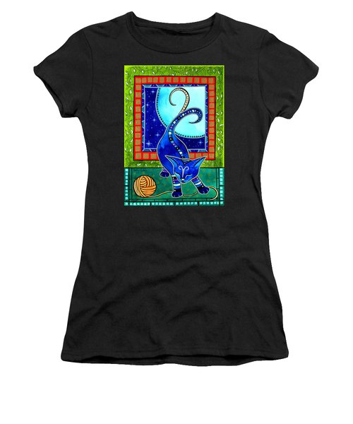 Aries Cat Zodiac Women's T-Shirt (Athletic Fit)