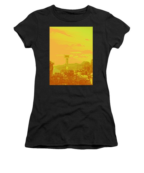 Women's T-Shirt (Junior Cut) featuring the photograph Arizona Road I by Carolina Liechtenstein