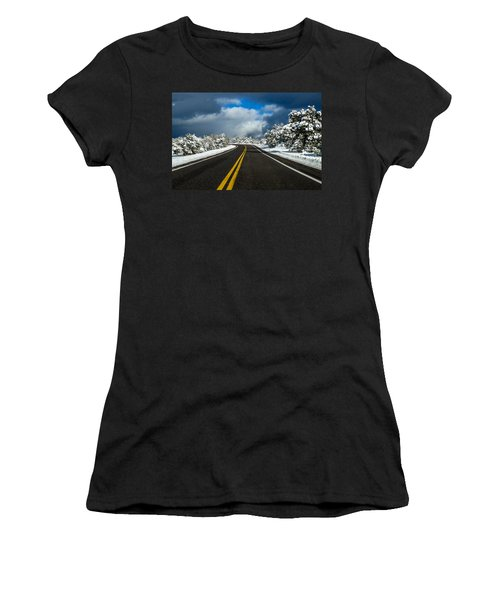 Arizona Snow Road Women's T-Shirt (Athletic Fit)