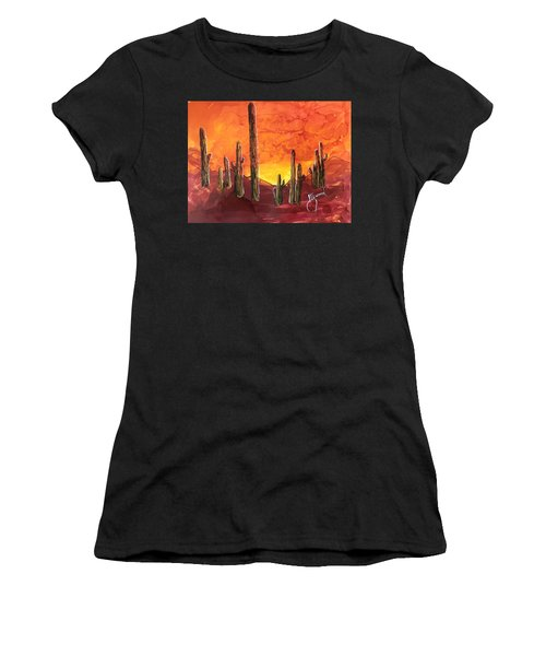 Arizona Sunset Women's T-Shirt (Athletic Fit)