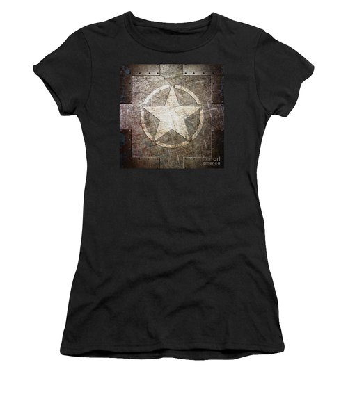 Army Star On Steel Women's T-Shirt
