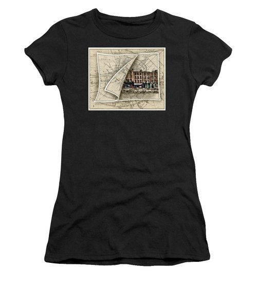 Arran Quay Dublin Map Women's T-Shirt