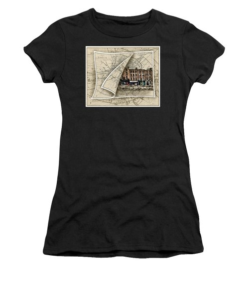 Arran Quay Dublin Map Women's T-Shirt