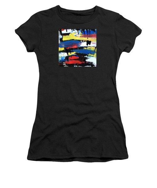 Art Abstract Painting Modern Black Women's T-Shirt