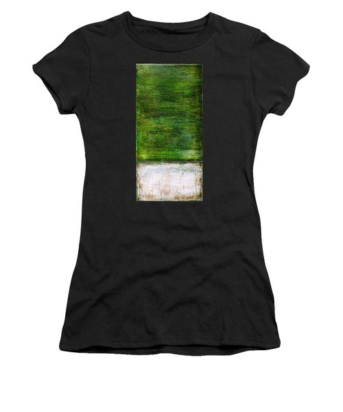 Art Print Green White Women's T-Shirt