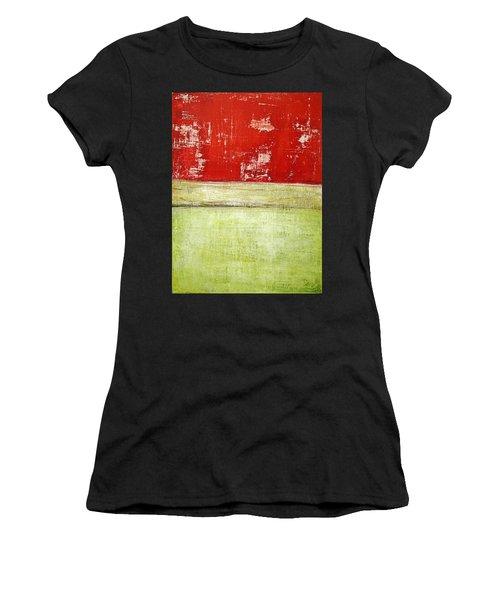 Art Print Rotgelb Women's T-Shirt (Athletic Fit)