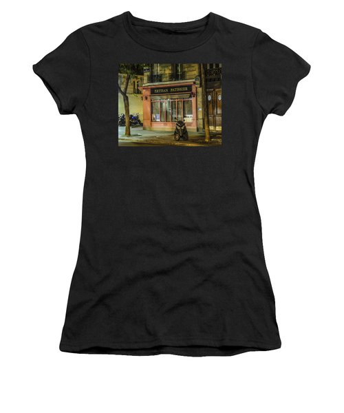 Women's T-Shirt (Junior Cut) featuring the photograph Artisan Patissier Montmartre Paris by Sally Ross