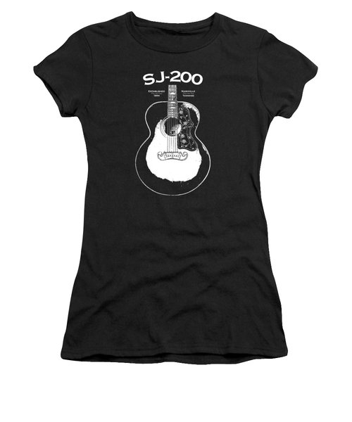 Gibson Sj-200 1948 Women's T-Shirt (Junior Cut) by Mark Rogan