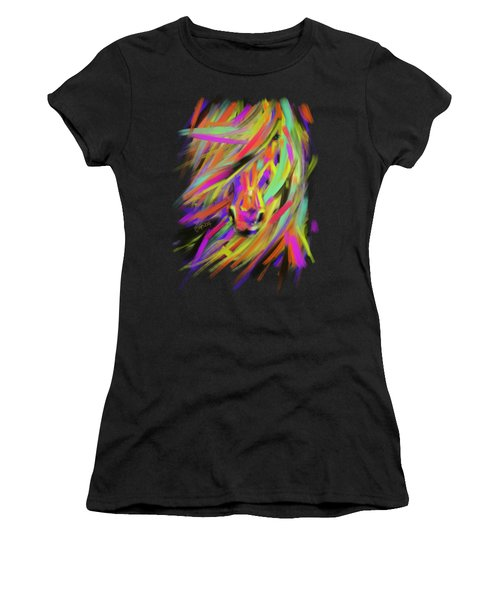 Horse Rainbow Hair Women's T-Shirt (Athletic Fit)