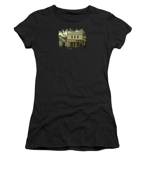 The Eagle Theater And Skalet Family Jewelers Old Sacramento Women's T-Shirt (Junior Cut) by Thom Zehrfeld