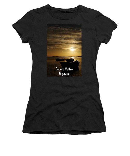 Fishing Boats In Cacela Velha Women's T-Shirt