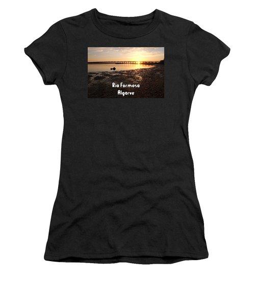 Sunset And Wooden Bridge In Ludo Women's T-Shirt