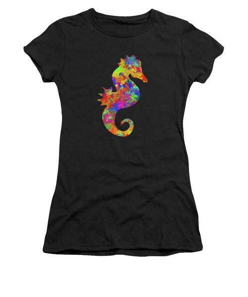 Seahorse Watercolor Art Women's T-Shirt