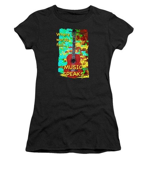 Guitar Fantasy Two Women's T-Shirt (Junior Cut) by Richard Farrington