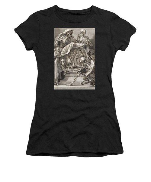 Bernardino Genga - Allegorical Emblems Of Death Women's T-Shirt
