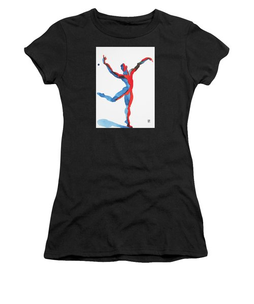 Ballet Dancer 3 Gesturing Women's T-Shirt (Athletic Fit)