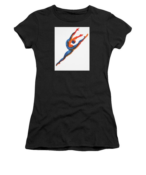 Ballet Dancer 2 Leaping Women's T-Shirt (Athletic Fit)