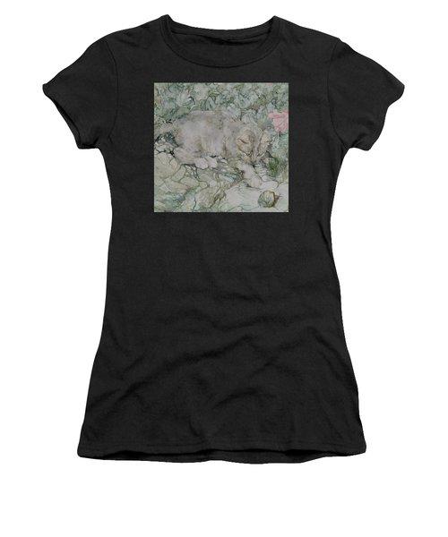 Playful Kitten Women's T-Shirt (Athletic Fit)