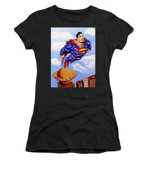 Superman Women's T-Shirt (Athletic Fit)