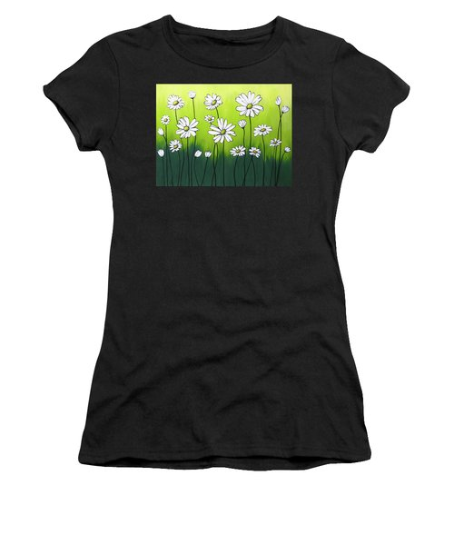 Daisy Crazy Women's T-Shirt (Athletic Fit)