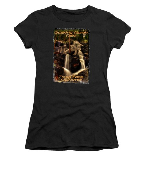 Quaking Aspen Falls Along Tioga Pass  Women's T-Shirt (Athletic Fit)