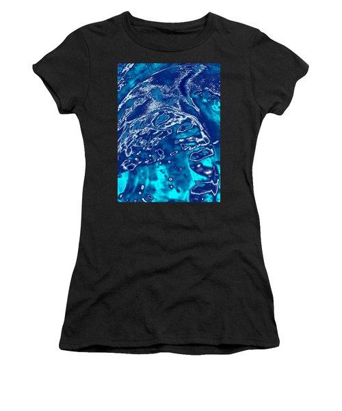 Molten Metal Splash Women's T-Shirt (Junior Cut) by Samantha Thome